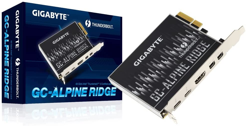 Gigabyte Alpine Ridge Thunderbolt 3 PCIe Card