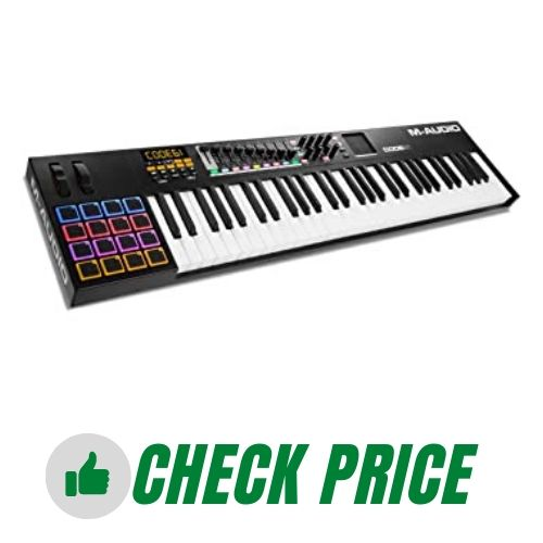 M-Audio Code 61, USB MIDI Controller With 61-Key Velocity Sensitive Keybed