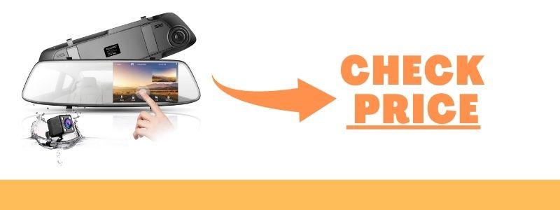 TOGUARD Waterproof Backup Camera 4.3″ Mirror Dash Cam 1080P Touch Screen