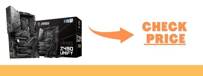 MSI MEG Z490 Unify ATX Gaming Motherboard