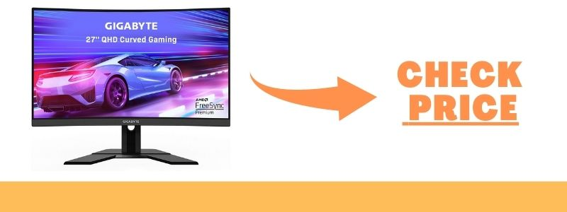 GIGABYTE G27QC 27 Inch 165Hz 1440P Curved Gaming Monitor