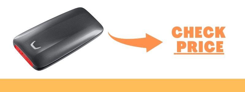 SAMSUNG X5 Portable SSD 1TB – Thunderbolt 3 NVMe External SSD